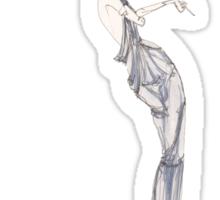 Fashion Illustration 'Blue Willow Dress' Fashion Art Sticker