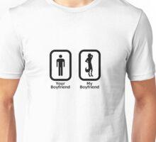 My Boyfriend is a Furry (Black) Unisex T-Shirt