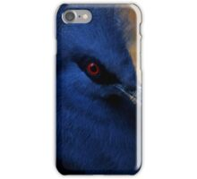 Blue pigeon iPhone Case/Skin
