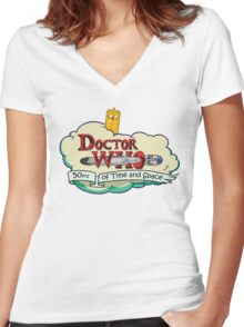 Adventure Time Lord 10th Women's Fitted V-Neck T-Shirt