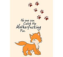 "Looking For Alaska - ""No One Can Catch the Motherfucking Fox"" John Green Photographic Print"