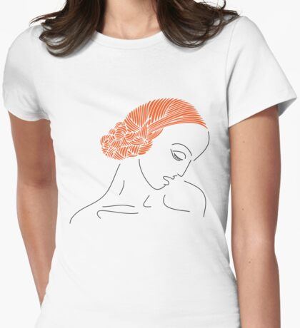 redheaded young woman   Womens Fitted T-Shirt
