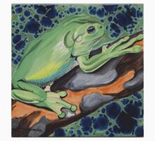 Australian Green Tree Frog (Litoria caerulea) One Piece - Short Sleeve