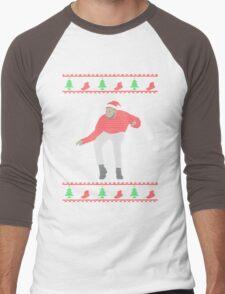 Ugly Sweater Christmas Hotline Bling Dance Men's Baseball ¾ T-Shirt