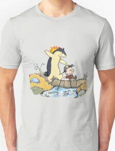 calvin and hobbes meets pokemon Unisex T-Shirt