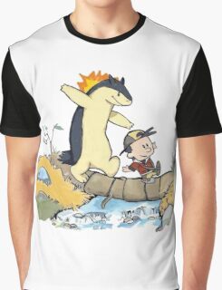 calvin and hobbes meets pokemon Graphic T-Shirt