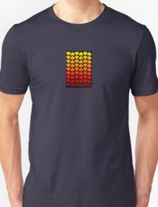 Love Hearts On A Black Background T-Shirt