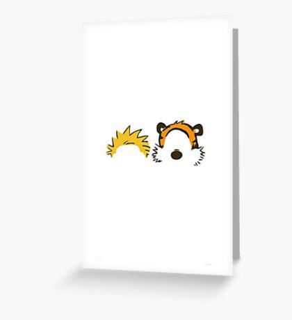 calvin and hobbes head Greeting Card