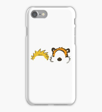 calvin and hobbes head iPhone Case/Skin