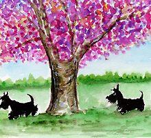 Two Scottie Dogs by archyscottie