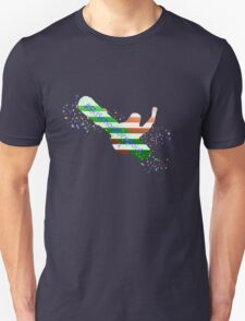 Ski School Dropout (Striped) Unisex T-Shirt