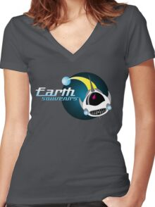 Earth Souvenirs Women's Fitted V-Neck T-Shirt