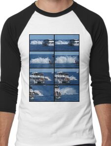 Humpback Whale Breaching Collage 5 Men's Baseball ¾ T-Shirt