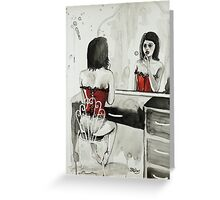 The Girl in the Mirror Greeting Card