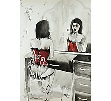 The Girl in the Mirror Photographic Print
