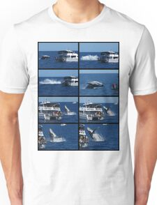 Humpback Whale Breaching next to boat Unisex T-Shirt