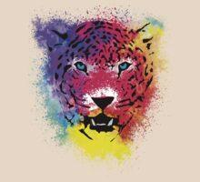 Tiger - Colorful Paint Splatters Dubs - T-Shirt Stickers Art Prints by Denis Marsili - DDTK