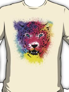 Tiger - Colorful Paint Splatters Dubs - T-Shirt Stickers Art Prints T-Shirt