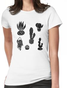 Houseplant Doodle Womens Fitted T-Shirt