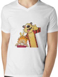 calvin and hobbes yucks Mens V-Neck T-Shirt