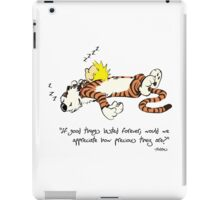 Calvin And Hobbes Quote iPad Case/Skin