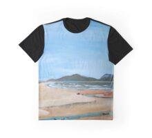 Sandy Beach and Rock Pool Graphic T-Shirt