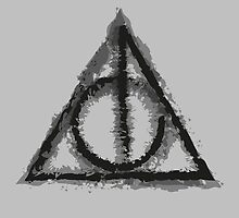 Deathly Hallows (black) by Lauramazing