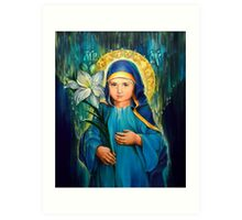 Mother Of God Three-Years-Old  Art Print