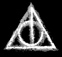Deathly Hallows (white) by Lauramazing