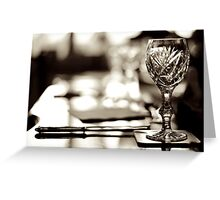 Dinner Service Greeting Card
