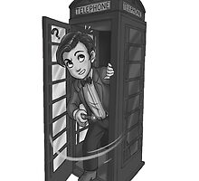 11th Docter in phonebox by rosawithlie
