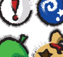 Distressed Animal Crossing Items 2  Sticker