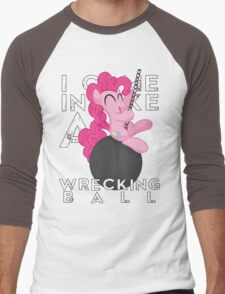 Wrecking Ball Pinkie Pie Men's Baseball ¾ T-Shirt