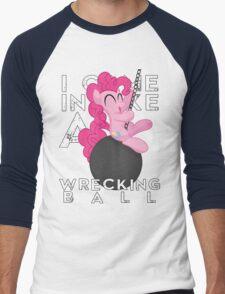 Wrecking Ball Pinkie Pie Men's Baseball ¾ T-Shirt