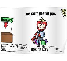 Bande dessinée de Boxing Day malentendu Poster