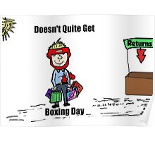 Misunderstanding Boxing Day cartoon Poster