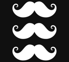 White mustaches by Mhea