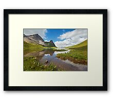 Idyllic Alps Framed Print