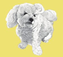 "A beautiful Bichon named ""Coconut"" ~ Black and white Kids Clothes"