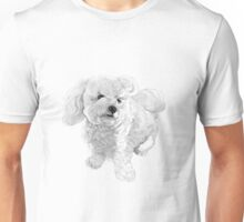 "A beautiful Bichon named ""Coconut"" ~ Black and white Unisex T-Shirt"