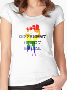 Different is not equal Women's Fitted Scoop T-Shirt