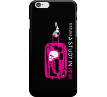 Sherlock - A Study in Pink Episode Poster iPhone Case/Skin