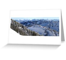 Panoramic view on the Alps Greeting Card