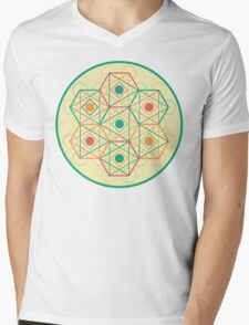 Circle, Square, Triangle Mens V-Neck T-Shirt