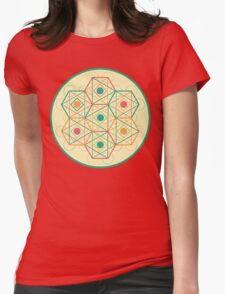 Circle, Square, Triangle Womens Fitted T-Shirt