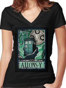 Dr. Who Nouveau Women's Fitted V-Neck T-Shirt