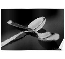 Spoons in black and white Poster