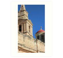 Malta Mellieha Parish Church Art Print