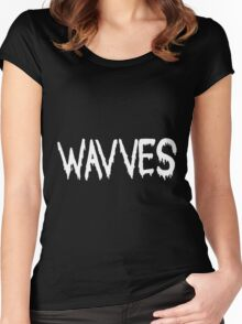 Wavves black Women's Fitted Scoop T-Shirt