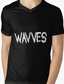 Wavves black Mens V-Neck T-Shirt